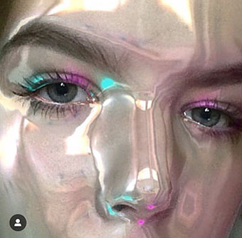 shiny skin mask - where to find on Instagram Stories