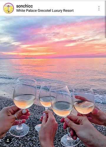 summer photo ideas for instagram sea wine