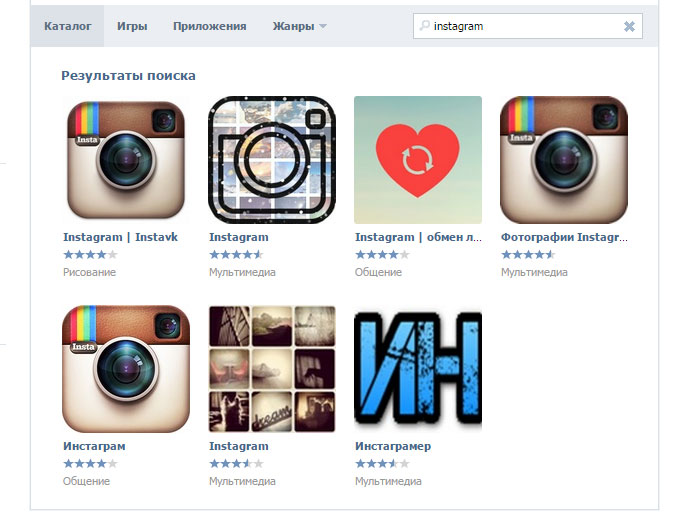 How to use Instagram through Vkontakte