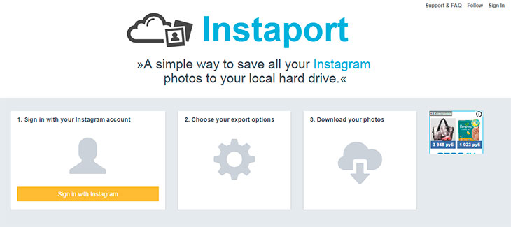 download photos from Instagram to computer